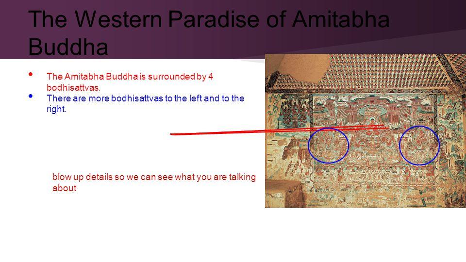 The Amitabha Buddha is surrounded by 4 bodhisattvas.