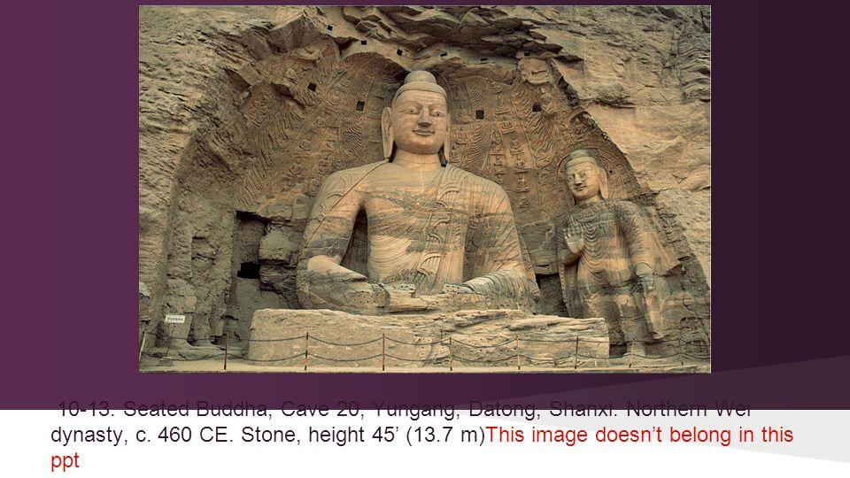 10-13. Seated Buddha, Cave 20, Yungang, Datong, Shanxi.