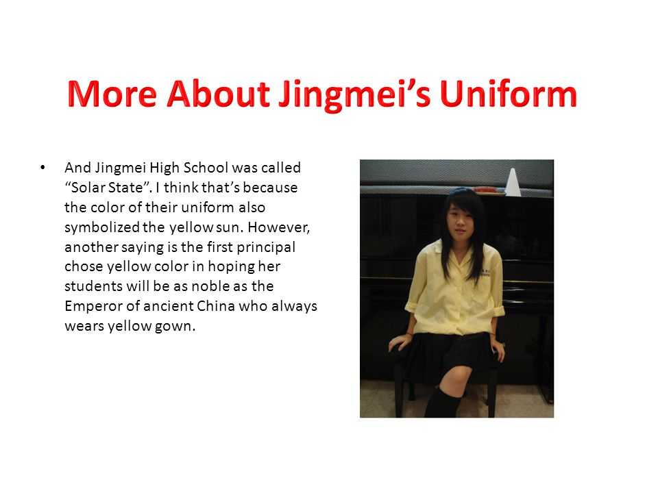 And Jingmei High School was called Solar State .