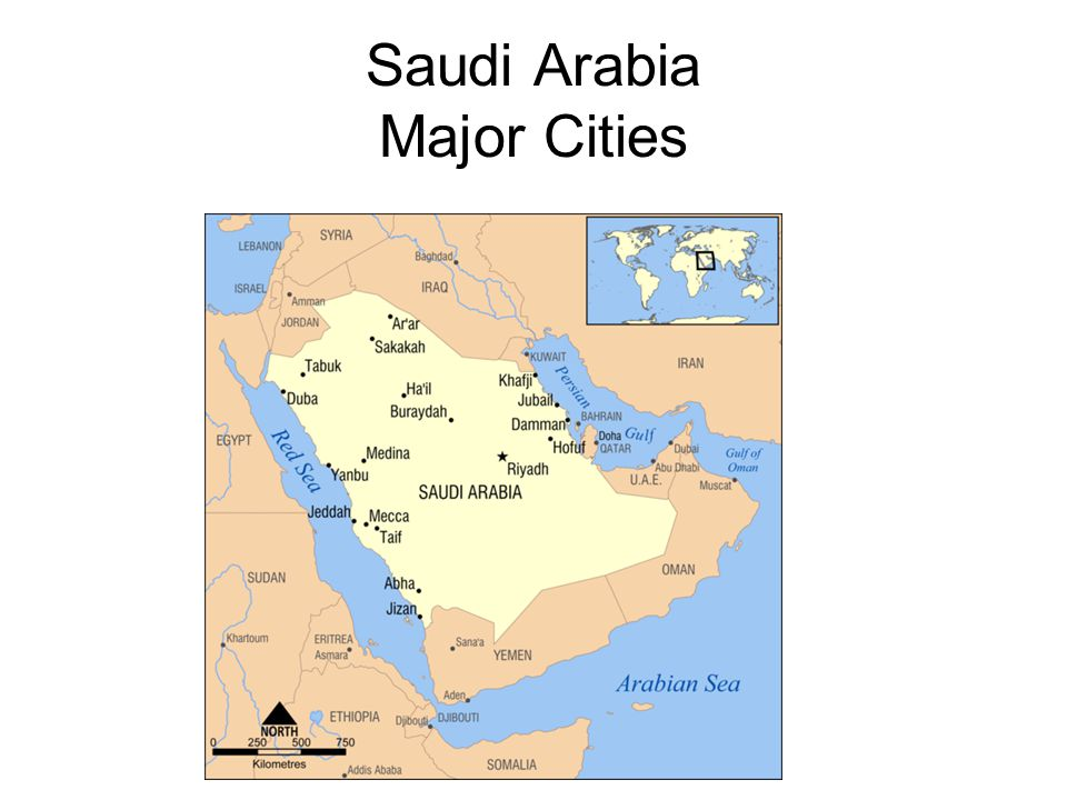Saudi Arabia Major Cities