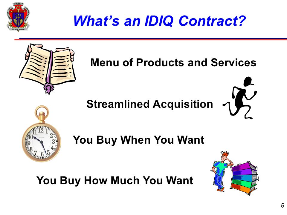 5 What's an IDIQ Contract.