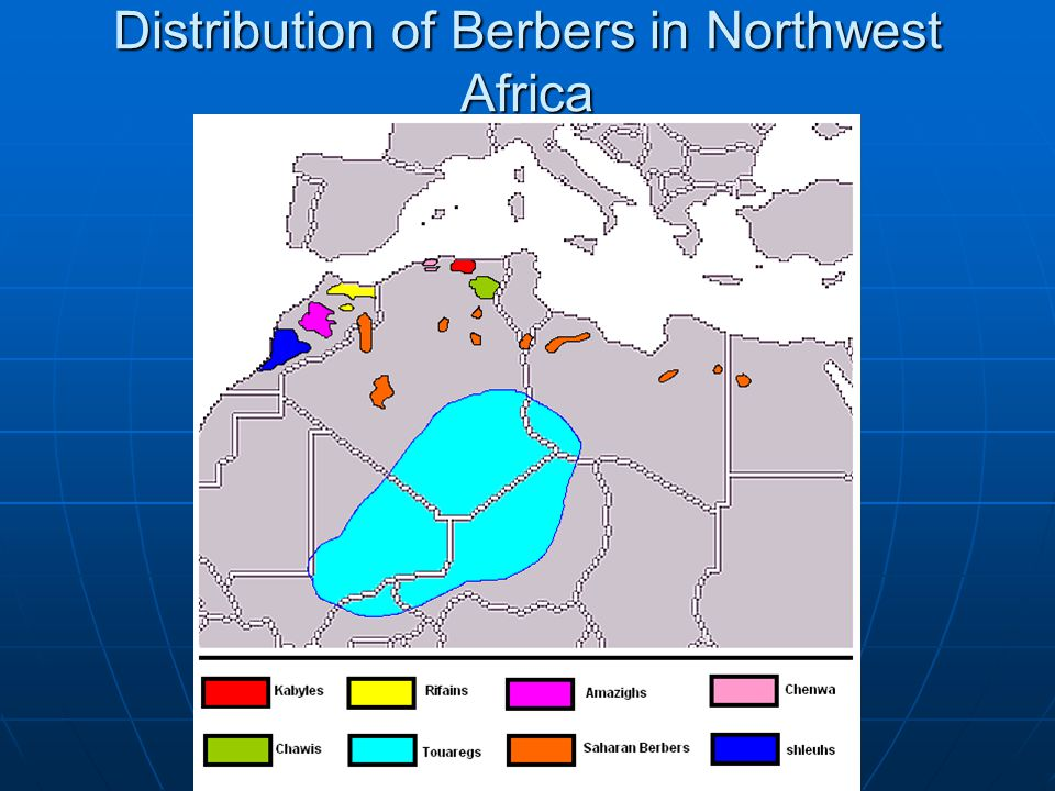 Distribution of Berbers in Northwest Africa