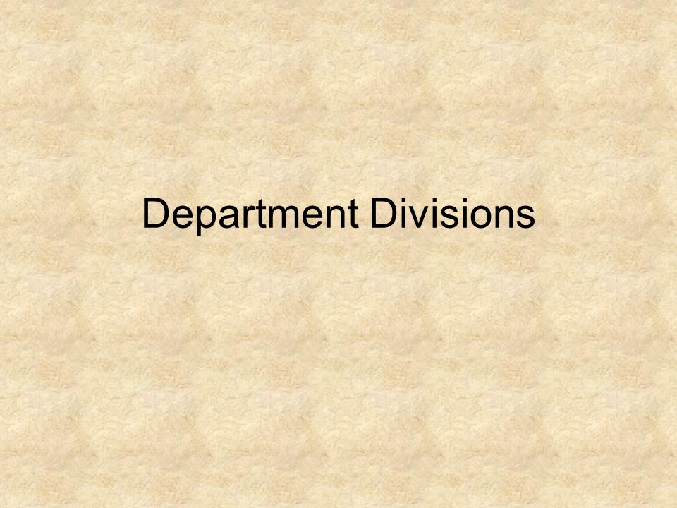 Department Divisions