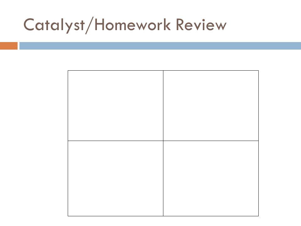 Catalyst/Homework Review