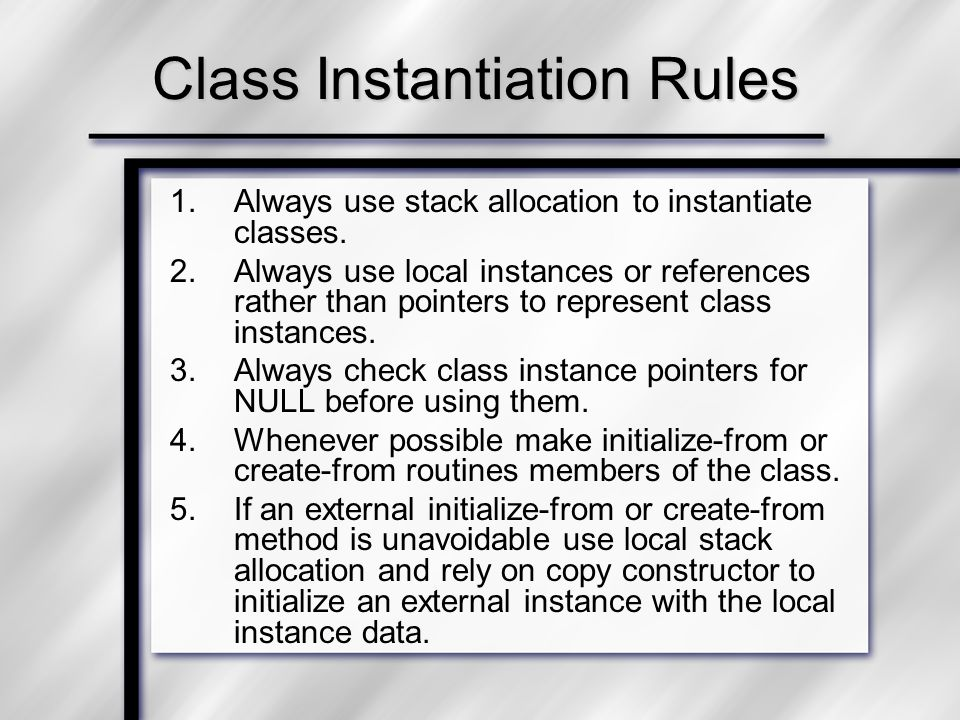 Variable Usage Rules 1.Avoid global variables.