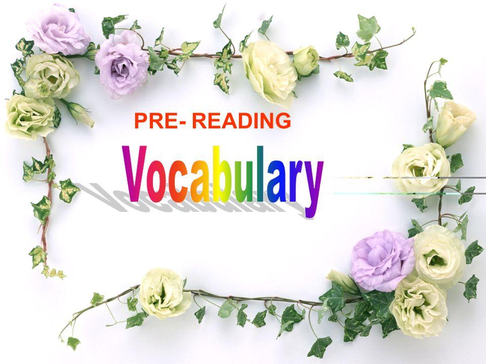 PRE- READING