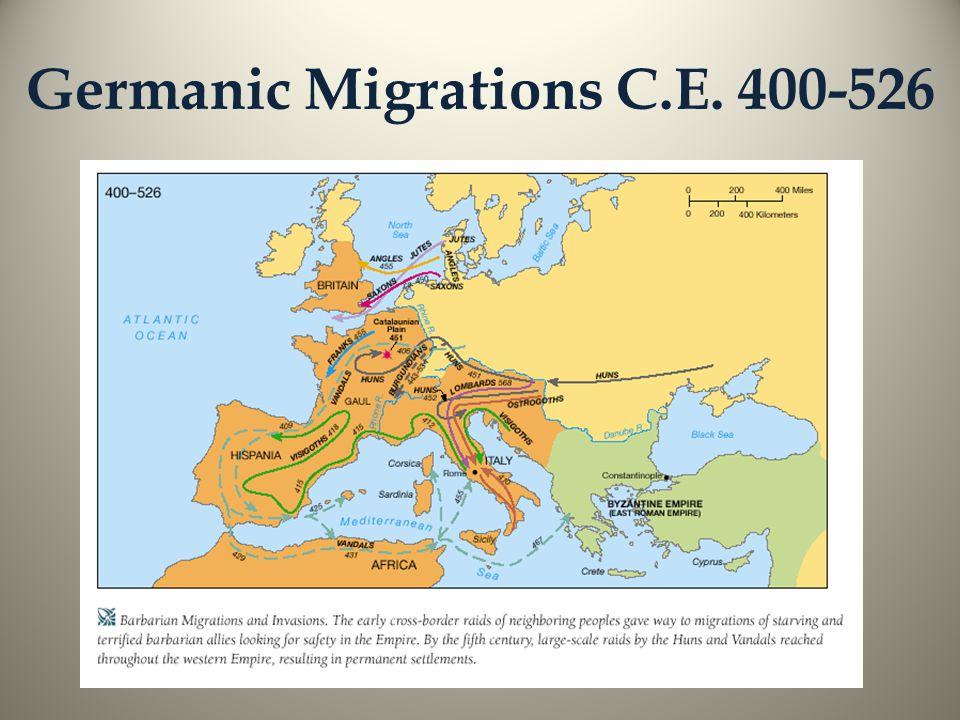 Germanic Migrations C.E. 400-526