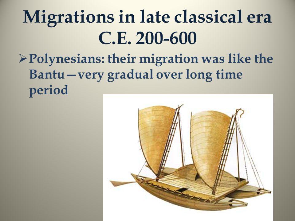 Migrations in late classical era C.E.