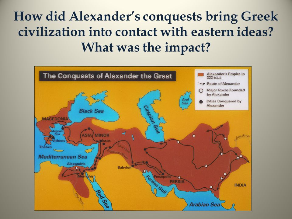 How did Alexander's conquests bring Greek civilization into contact with eastern ideas.