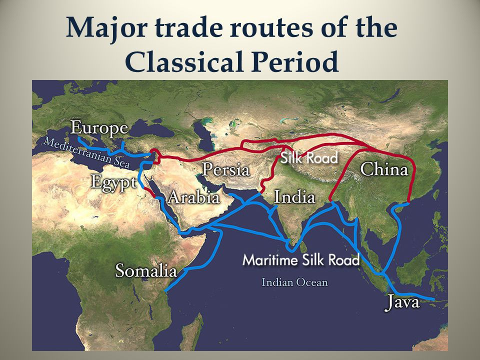 Major trade routes of the Classical Period