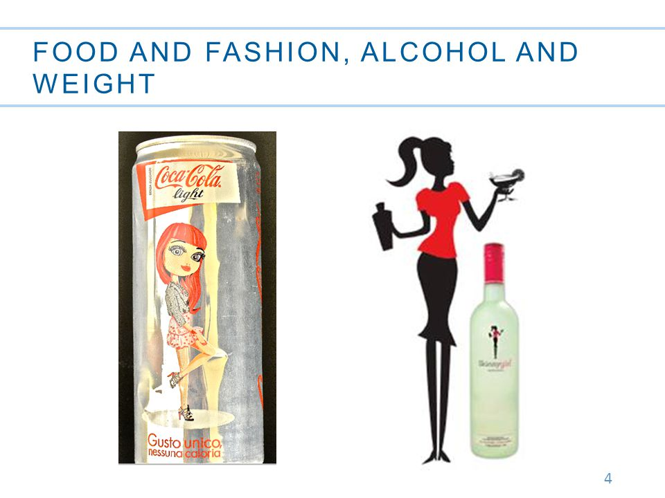 4 FOOD AND FASHION, ALCOHOL AND WEIGHT