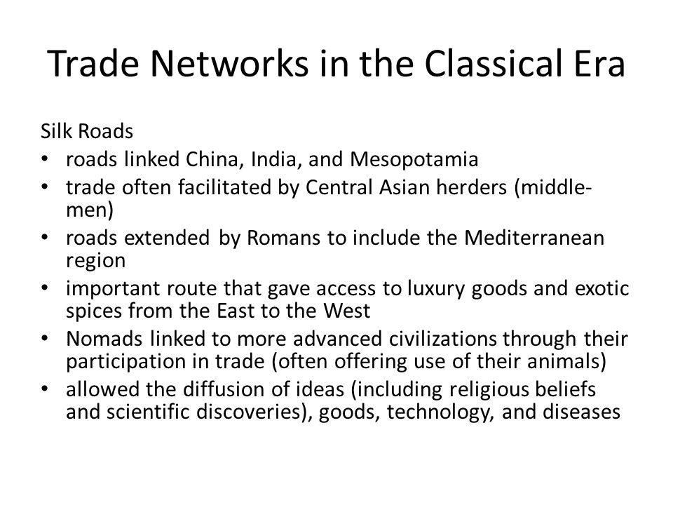 Trade in the Classical Era Mediterranean Sea Lanes Originated by Phoenician Sea-faring traders (c.