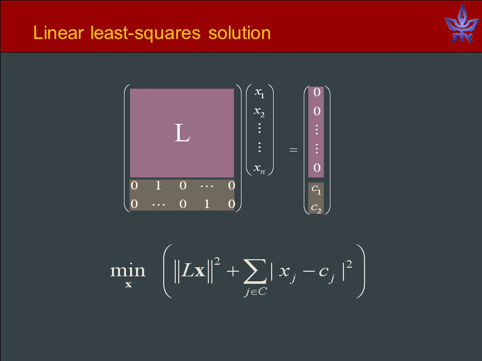 Linear least-squares solution L