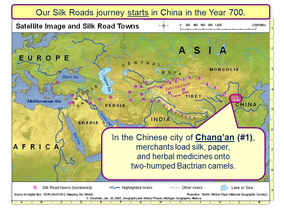 Our Silk Roads journey starts in China in the Year 700.