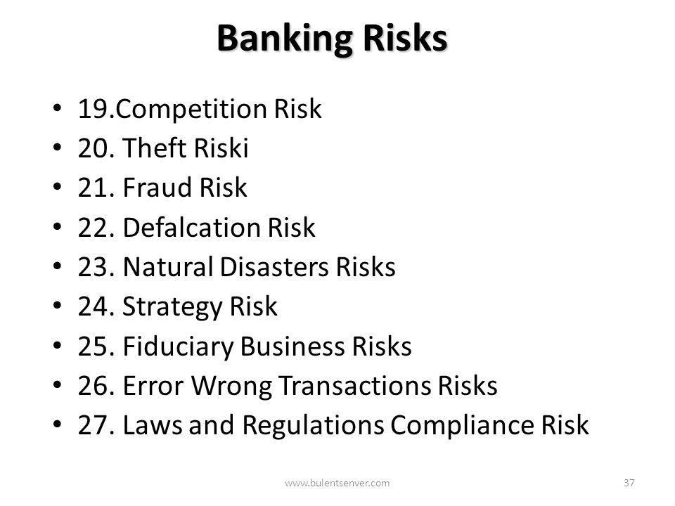 www.bulentsenver.com36 Market Risks Market risks arising due to market financial instruments MARKET RİSKS Market Risks arising due to Asset/Liability