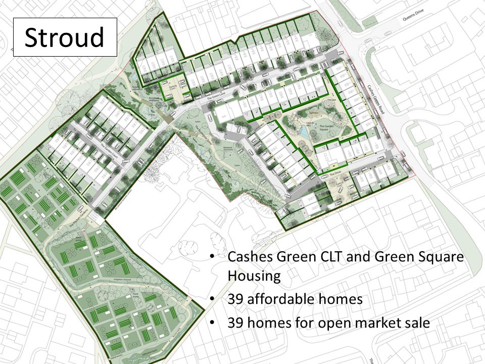 Stroud Cashes Green CLT and Green Square Housing 39 affordable homes 39 homes for open market sale