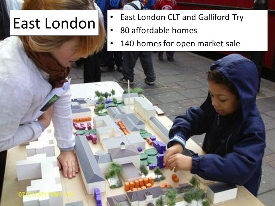 East London East London CLT and Galliford Try 80 affordable homes 140 homes for open market sale