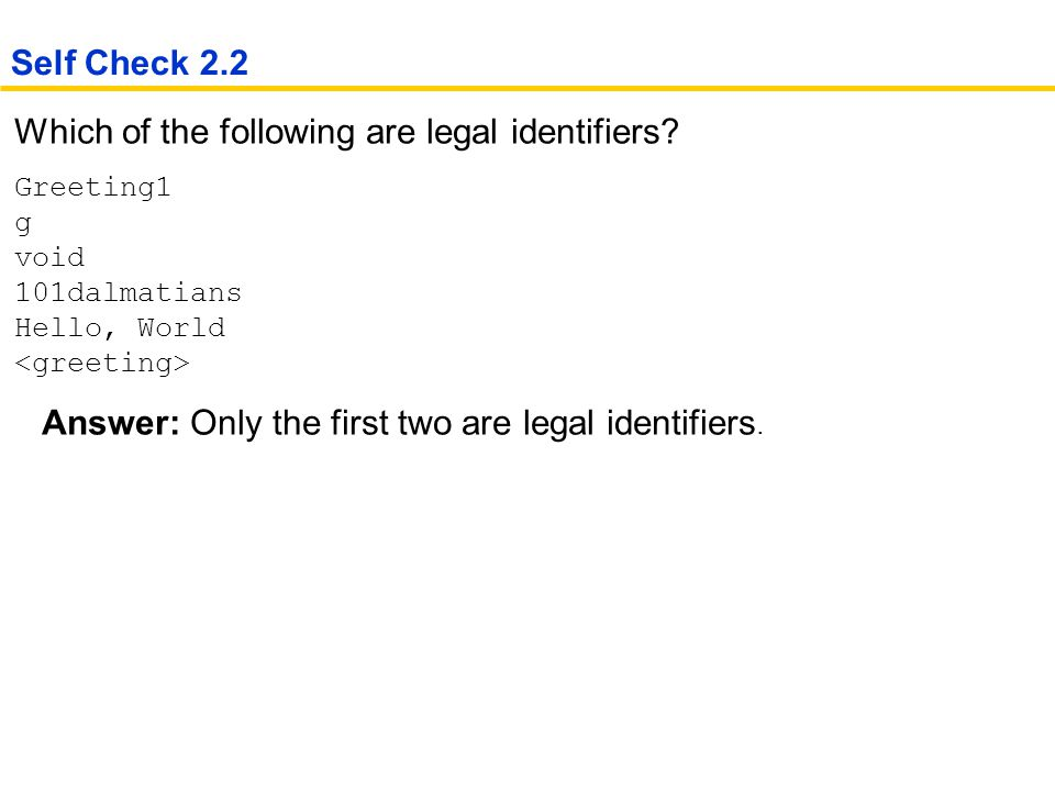 Which of the following are legal identifiers.