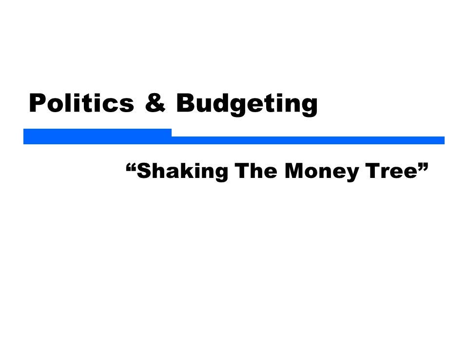 Politics & Budgeting Shaking The Money Tree