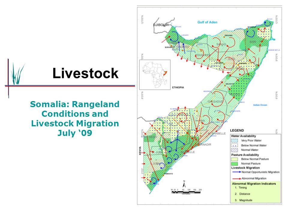 Somalia: Rangeland Conditions and Livestock Migration July '09 Livestock