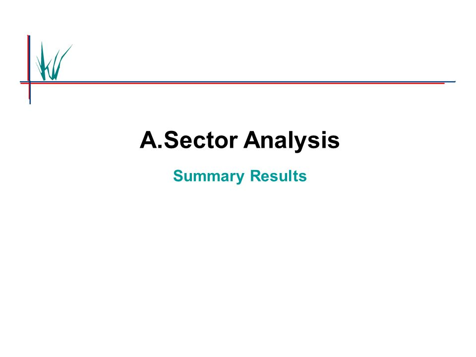 A.Sector Analysis Summary Results