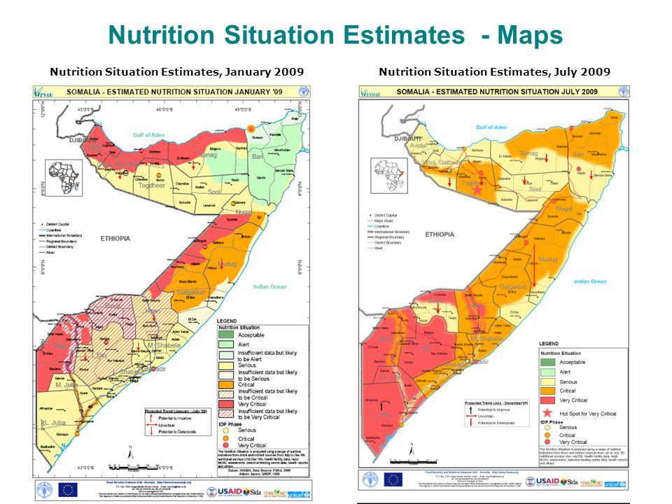 Nutrition Situation Estimates - Maps Nutrition Situation Estimates, July 2009Nutrition Situation Estimates, January 2009