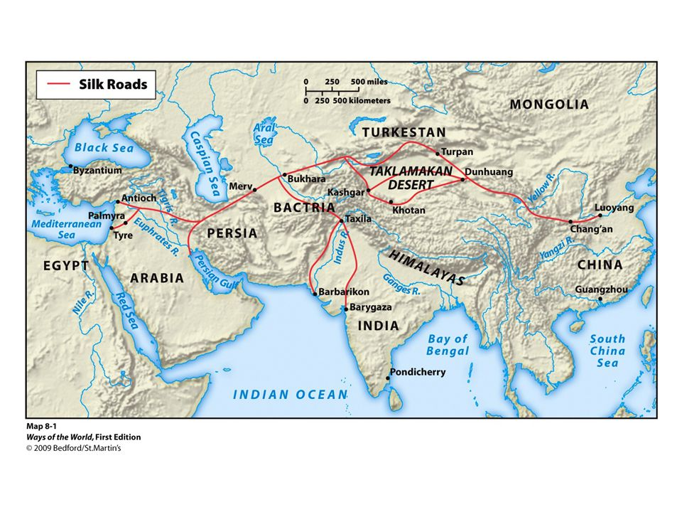 Silk Roads: Exchange across Eurasia Emerged from interaction between outer and inner Eurasia.