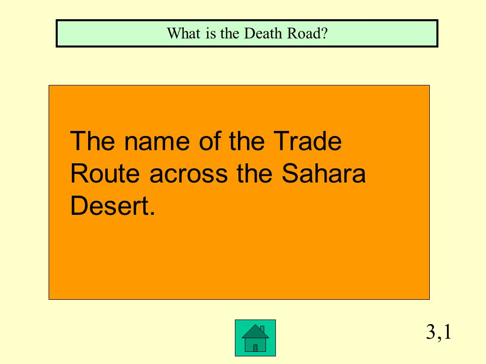 2,1 What is Northern Africa The area of Africa where the Sahara Desert is located.