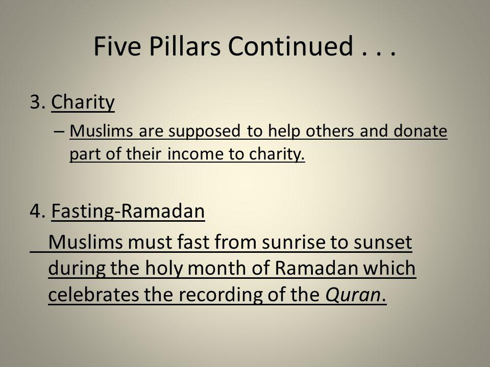 Five Pillars Continued...3.