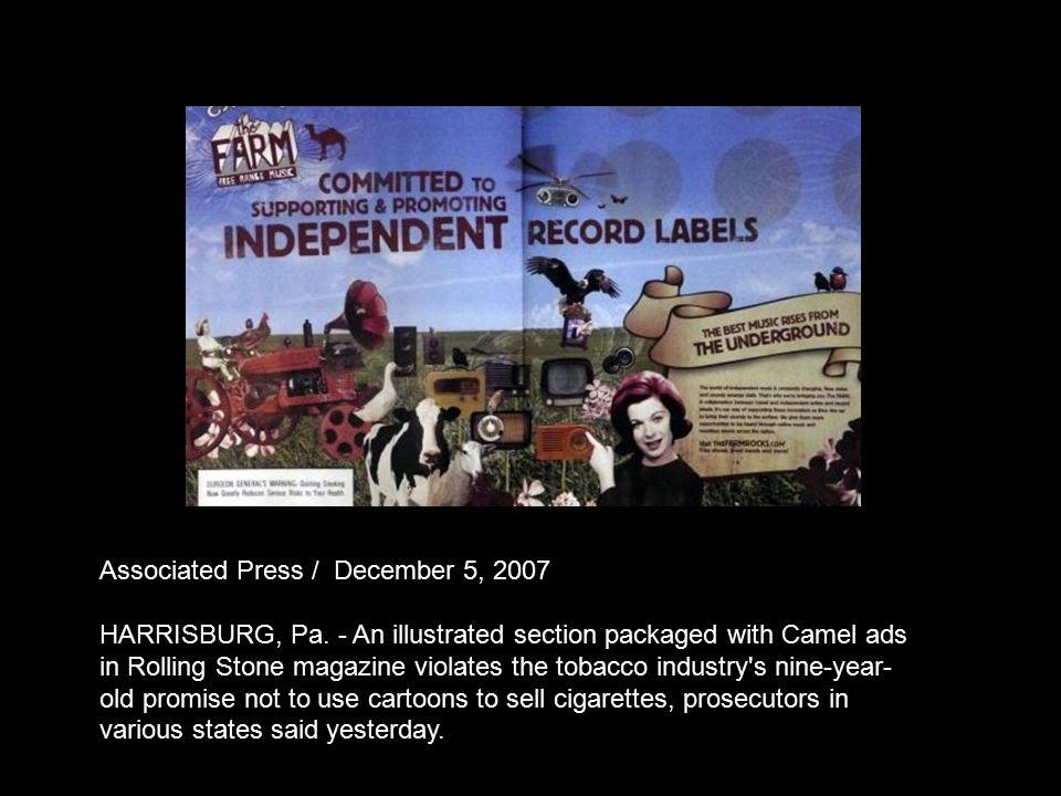 Associated Press / December 5, 2007 HARRISBURG, Pa.