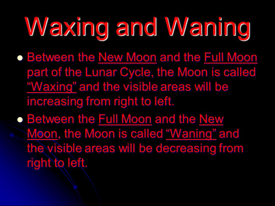 Moon Phases – Full Moon You do not need to add anything to your drawing this time since the entire moon is illuminated.