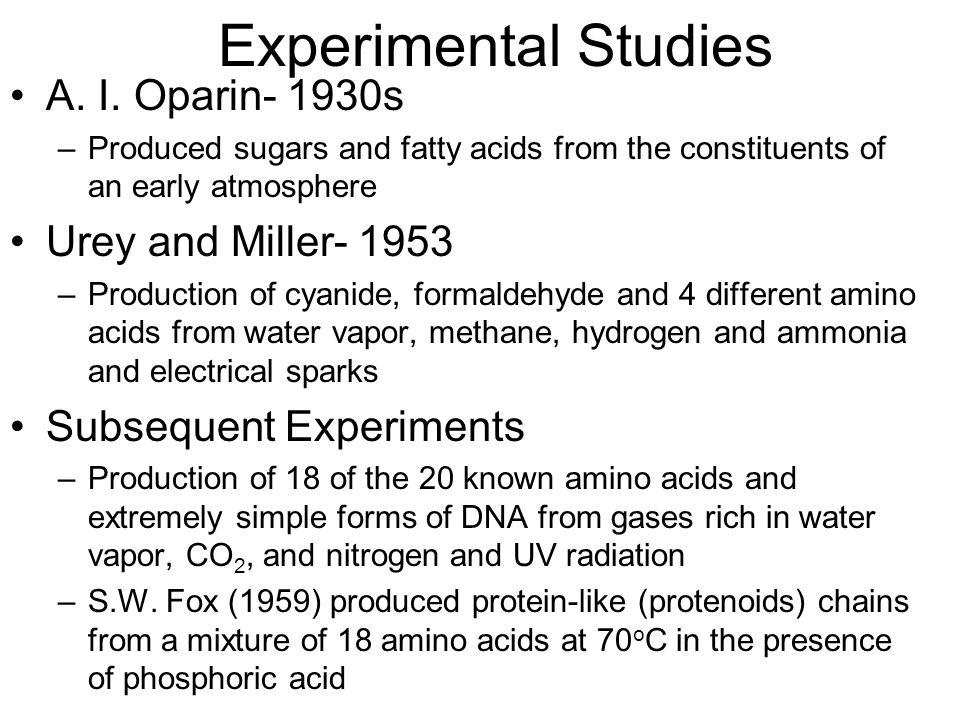 Experimental Studies A. I.