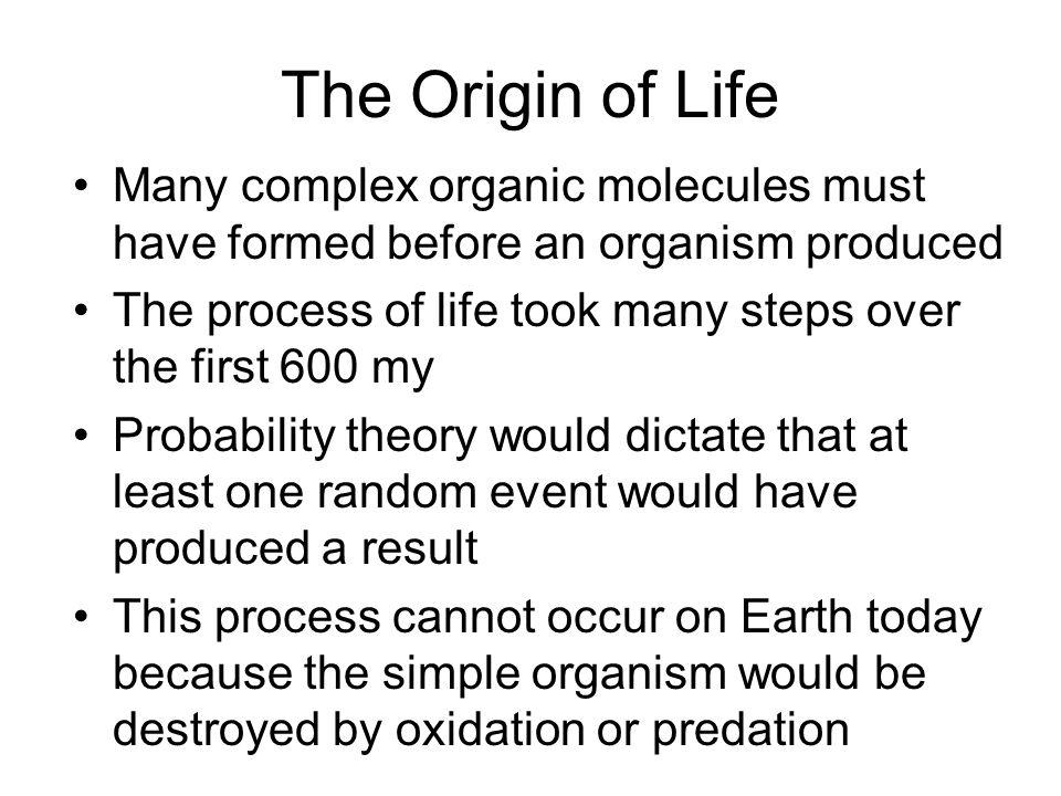 Steps in the Origin of Life Aerobic vs.