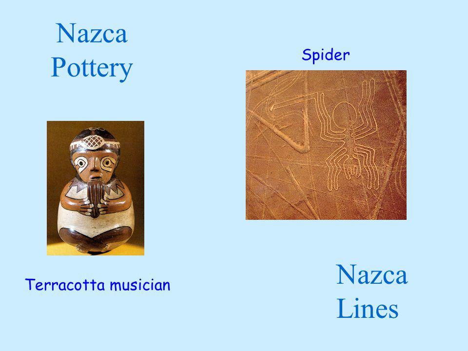 Nazca Pottery Terracotta musician Nazca Lines Spider