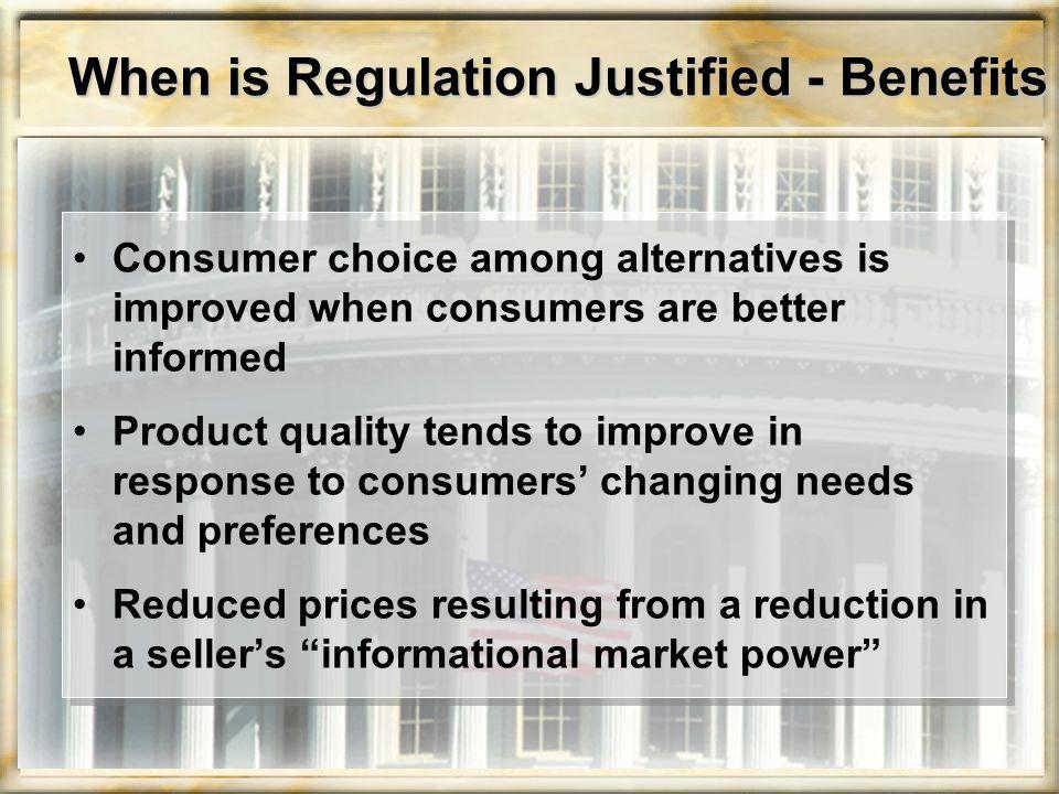 Regulation of Product Labeling Food and Drug Administration (FDA) Responsible for regulating information on the packages of food and drug products
