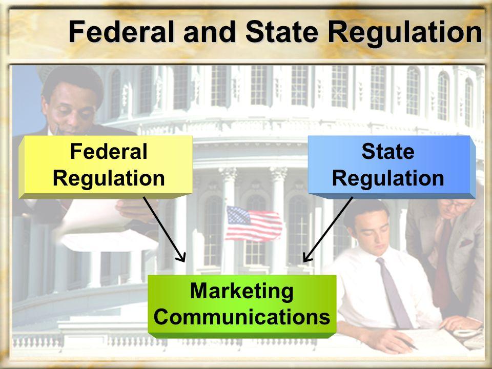 Federal Regulation Regulation of deceptive advertising Regulation of unfair practices Information regulation Regulation of product labeling Regulation of prescription drug advertising
