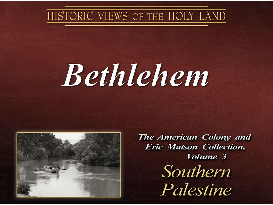 Bethlehem, distant view from southwest