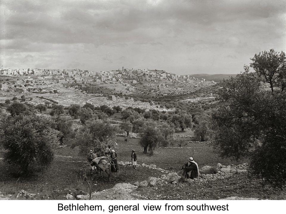 Bethlehem from southwest with camel