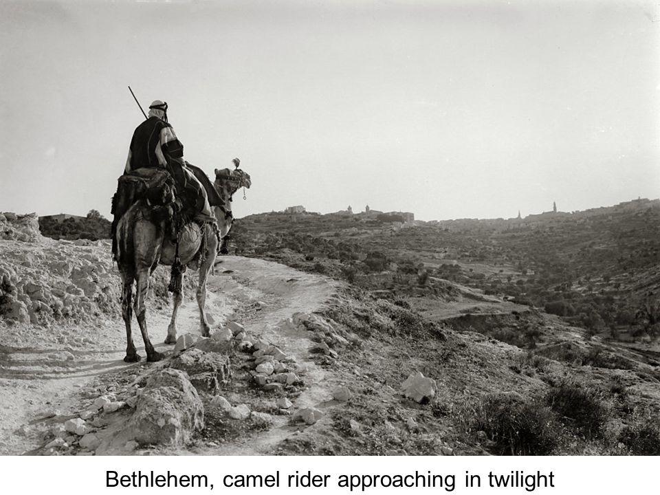 Bethlehem, man on donkey