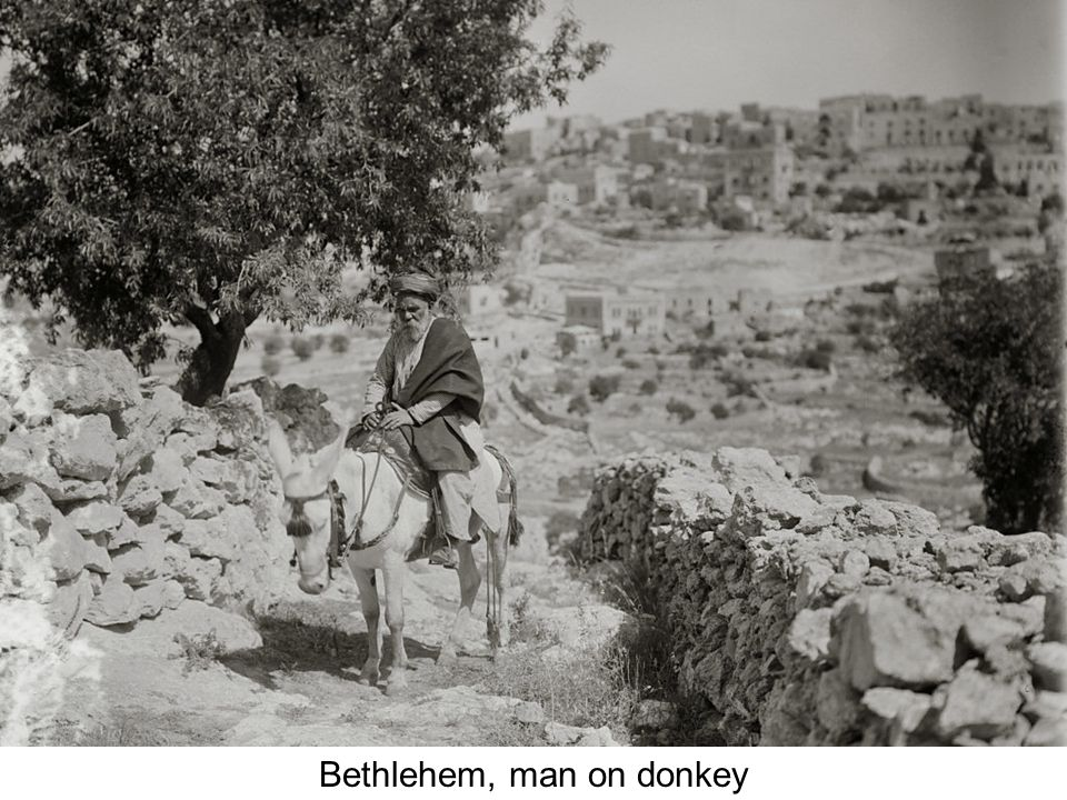 Bethlehem, sunlit street of old homes