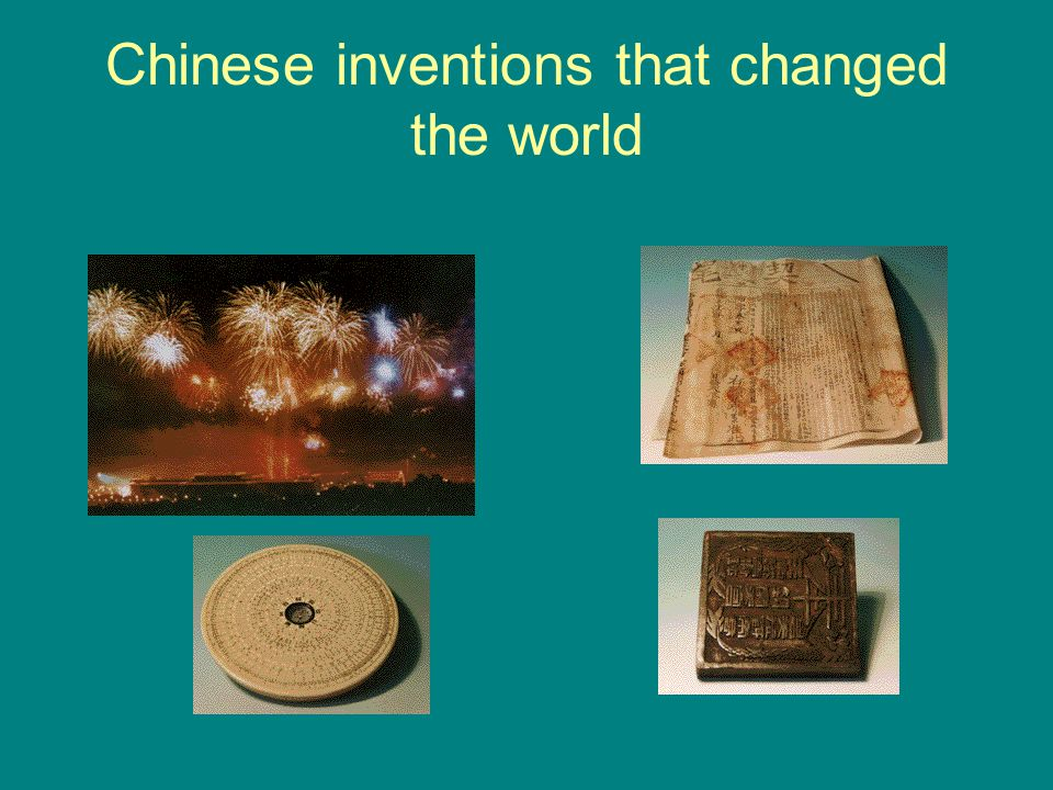 Chinese inventions that changed the world