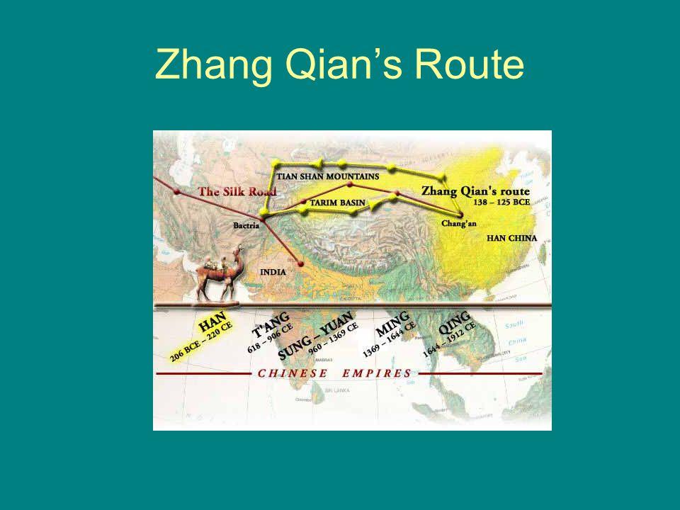 Zhang Qian's Route