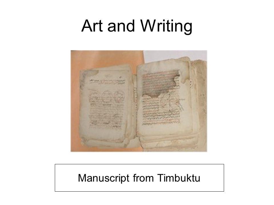 Art and Writing Manuscript from Timbuktu