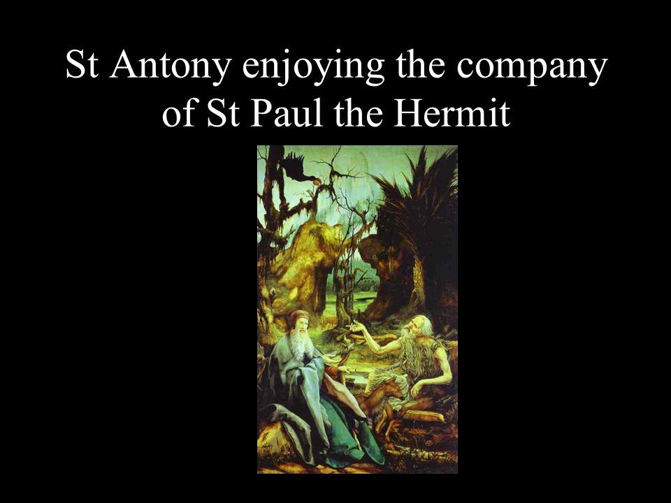 St Antony enjoying the company of St Paul the Hermit