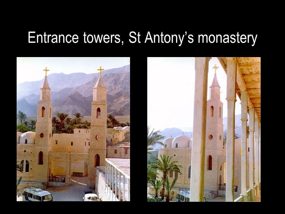 Entrance towers, St Antony's monastery