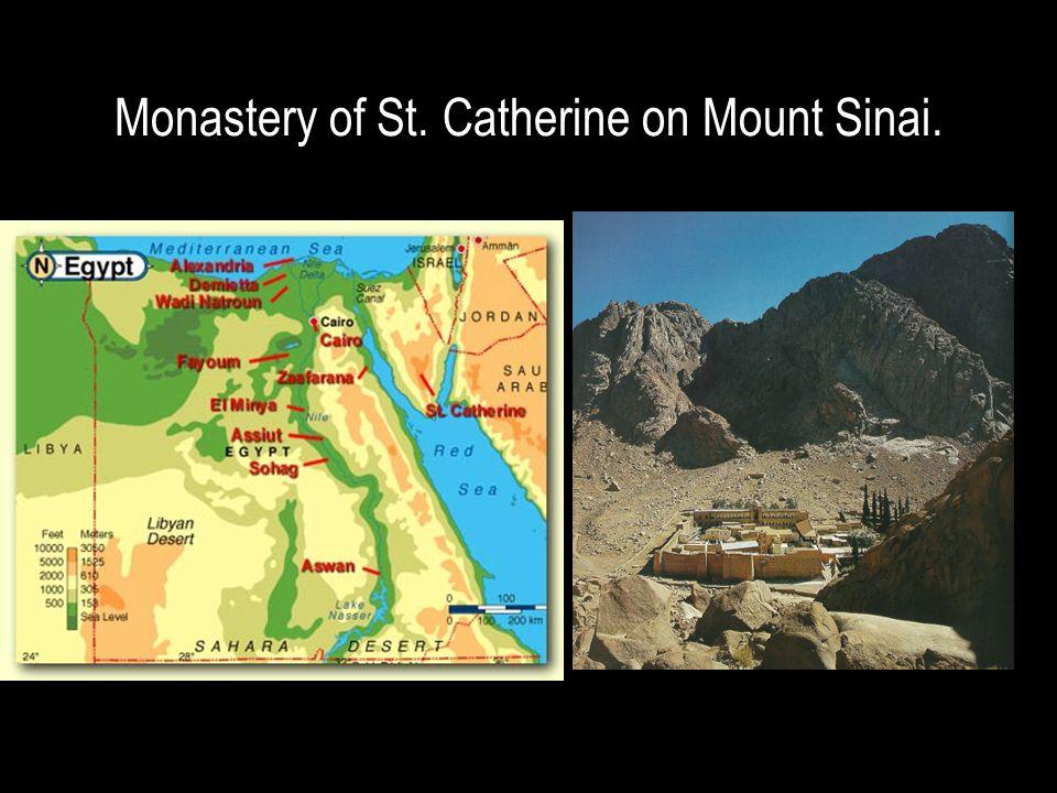 Monastery of St. Catherine on Mount Sinai.