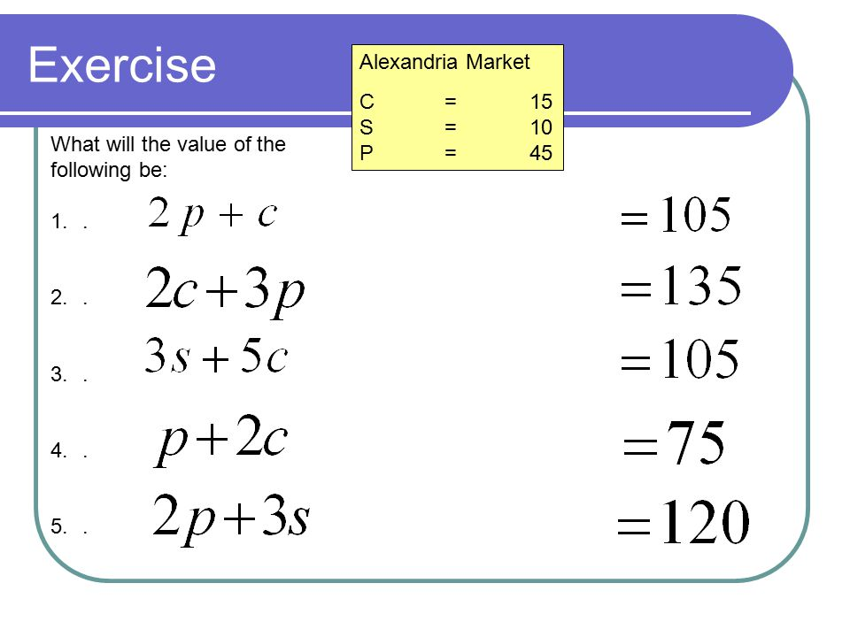 Subtracting in the Market Giza Market C=12 S=20 P=31 Remember that we can subtract as well as add What will the value of the following be: