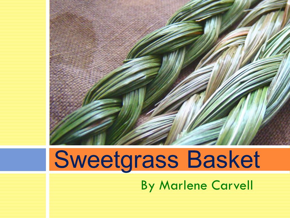 By Marlene Carvell Sweetgrass Basket