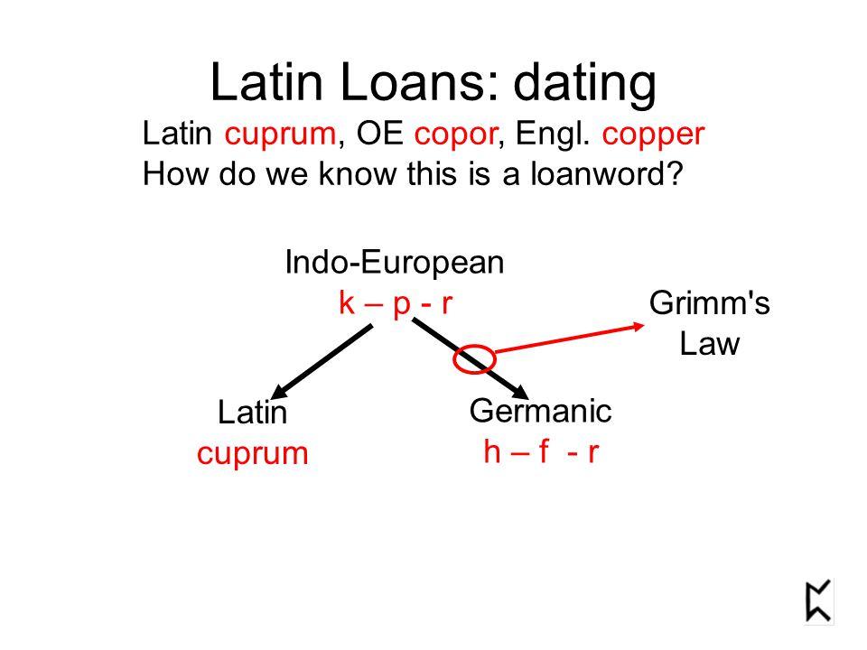 2.Latin Loans: into Old English Baugh §59 p.