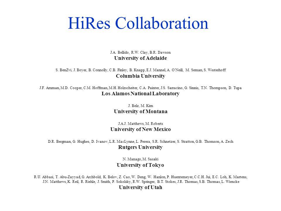 HiRes Collaboration J.A. Bellido, R.W. Clay, B.R.